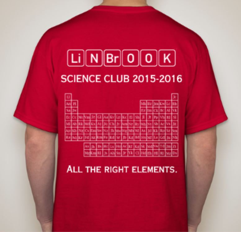 2 lynbrook science club for Science olympiad t shirt designs
